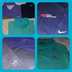 LOT OF 3 Men's XXL Nike Golf Dri-Fit Polo Shirts